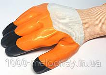 Рукавички робочі Чорні пальці