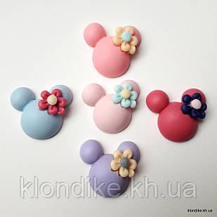 """Серединки """"Микки"""", Акрил, 2.3×2.3 см, Цвет: Микс (5 шт.)"""