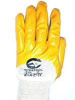 Перчатки рабочие универсальные, размер 8,9,10, нитрил желтые