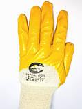 Перчатки рабочие универсальные, размер 8,9,10, нитрил желтые, фото 2