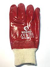Рукавички БМС (бензо-маслостойкие), червоні, розмір 10,5