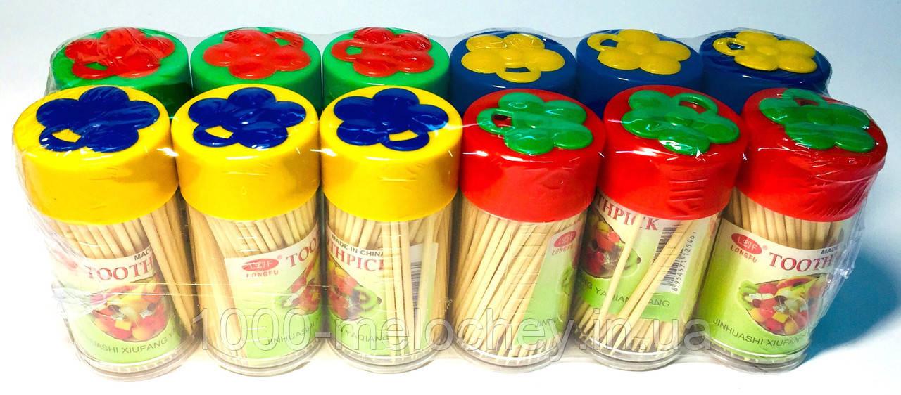 Зубочистки деревянные Бантик 150ед., 12штук в упаковке