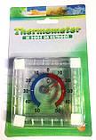 Термометр оконный Квадрат на липучках (75mm*75mm), фото 3