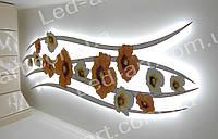Светодиодный светильник контражурный 2700 х 1000 мм  150 Вт LED-ART- 150