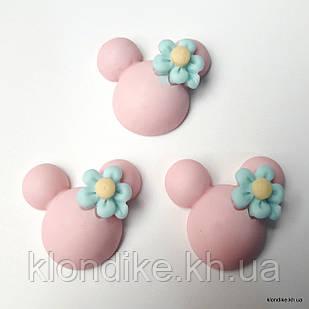 """Серединки """"Микки"""", Акрил, 2.3×2.3 см, Цвет: Розовый (5 шт.)"""