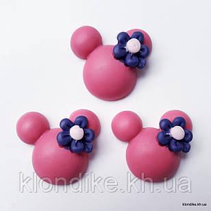 """Серединки """"Микки"""", Акрил, 2.3×2.3 см, Цвет: Малиновый (5 шт.)"""