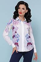 Блуза  Зоя гортензия д/р, фото 1