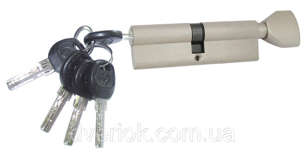 Цилиндровый механизм USK B-90 (45x45) ключ/поворотник Никель