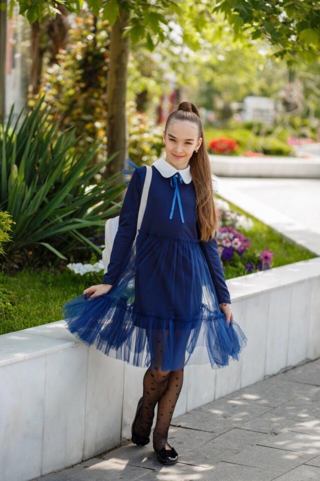 Платье LiLove 527 140 синий