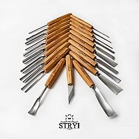 Набор профессиональных стамесок для рельефной резьбы из 21 штуки, STRYI