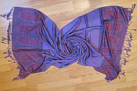Шарф палантин пашмина фиолетовый