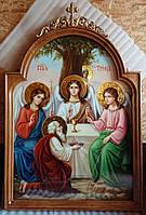 Икона писаная храмовая Святая Троица 120*100 см