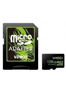 Карта памяти MicroSD Verico 128Gb 10 Class Original + адаптер SD