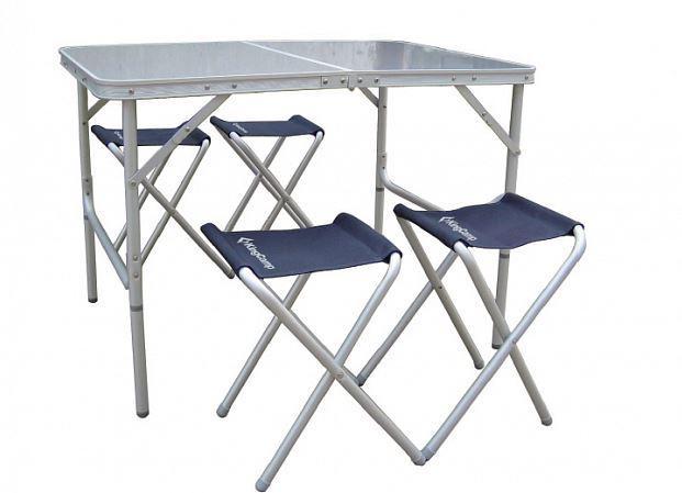 Стол со стульями KingCamp Table and chair set (KC3850) Silver