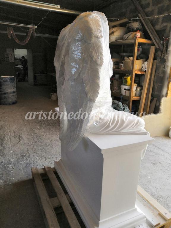 Памятник с ангелом из литьевого полимера (установлен в Беларуссии) 3
