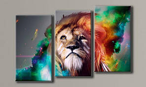Модульная картина Пламенный лев 63х95,5 см (HAT-135)