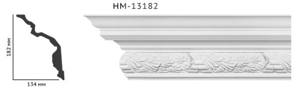 Карниз потолочный с орнаментом Classic Home New  HM-13182 лепной декор из полиуретана,