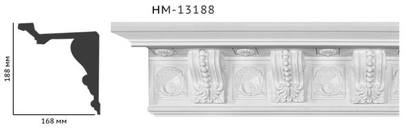 Карниз потолочный с орнаментом Classic Home New  HM-13188 лепной декор из полиуретана,