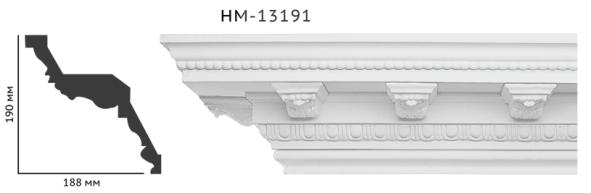 Карниз потолочный с орнаментом Classic Home New  HM-13191 лепной декор из полиуретана,