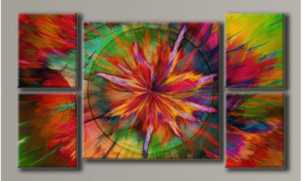 Модульная картина Абстракция-7 62х107 см (HAB-036)