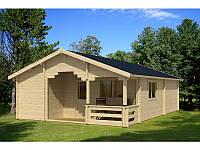 Дом деревянный из профилированного бруса 6х9. Кредитование строительства деревянных домов