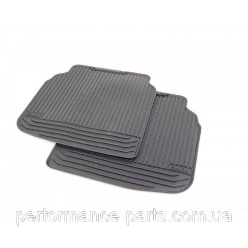 Резиновые коврики задние черные BMW F02 51472409277