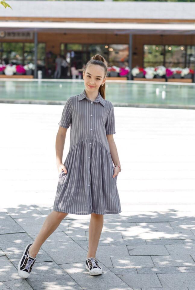 Платье LiLove 451 146 серый