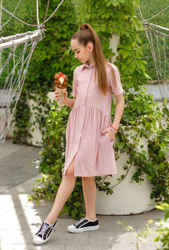 Платье LiLove 451-1 146 розовый