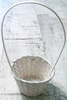 Корзинка плетеная 30*13 см, белая