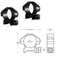 Аксессуары Hawke Кольца Precision 30mm/Weaver/Medium, фото 1