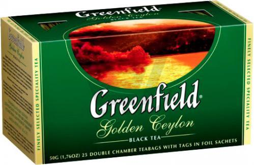 Черный Чай Greenfield Golden Ceylon (25 шт)