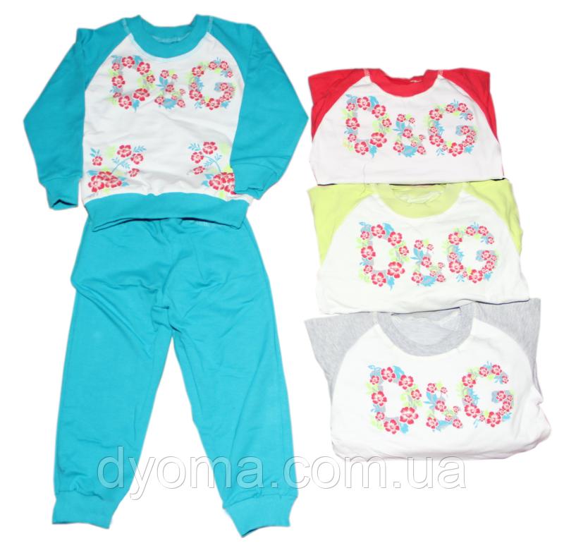 """Дитячий спортивний трикотажний костюм """"D&G"""" для дівчаток (двунітка)"""
