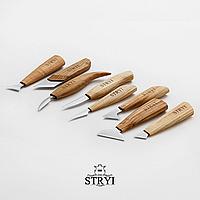 Набор ножей для резьбы по дереву 8 штук, STRYI