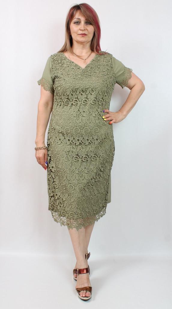 Турецкое нарядное женское платье с гипюром, 48-54