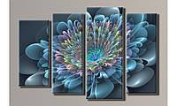 Модульная картина Абстракция цветок 59,5х90 см (HAF-048)
