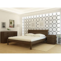 """Кровать деревянная TM """"YASON"""" Chalkida Венге (Массив Ольхи либо Ясеня), фото 1"""