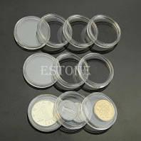 Пластиковые капсулы для монет 27 мм Набор 10 шт