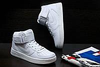 Кроссовки белые высокие Найк Аир Форс, фото 1