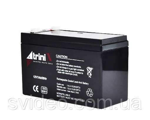 Аккумулятор 12В 7А/ч Trinix , не обслуживаемый, Свинцово-кислотный