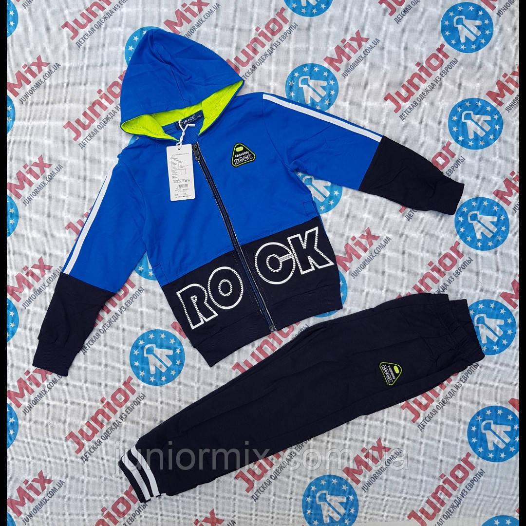 Трикотажные детские спортивные костюмы для мальчиков  оптом GRACE  98---128см.