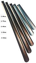 Лопатка, рожок для обуви цельнометаллический загнутый (40cm)