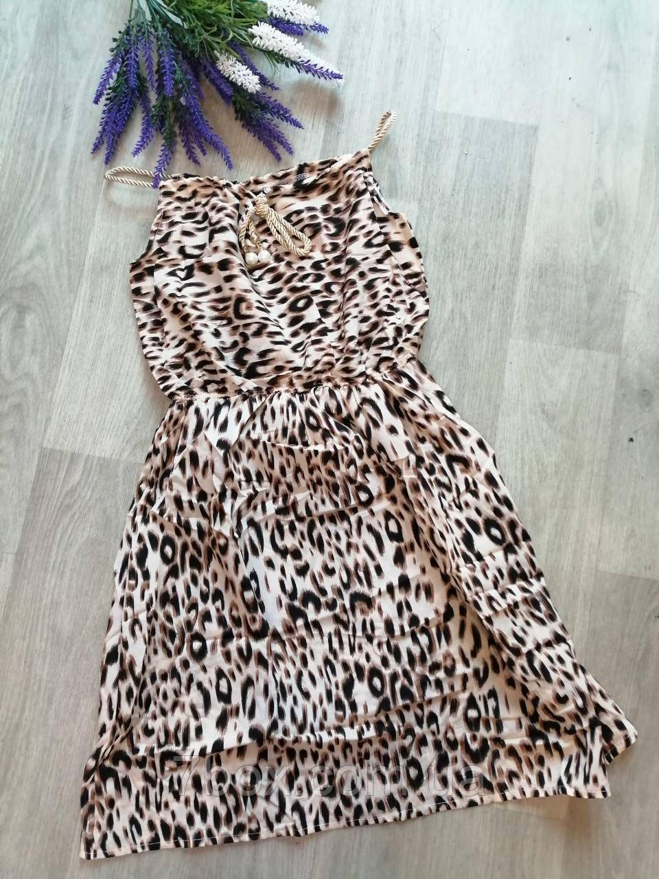 Женское платье сарафан лето. Норма 44-46 Леопард