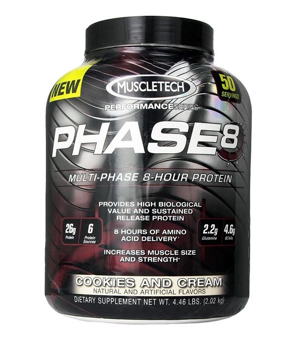 Комплексный протеин MuscleTech Phase 8 (2 кг) маслтек фейз клубника