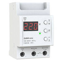 Реле напряжения D25t 25А Zubr c термозащитой