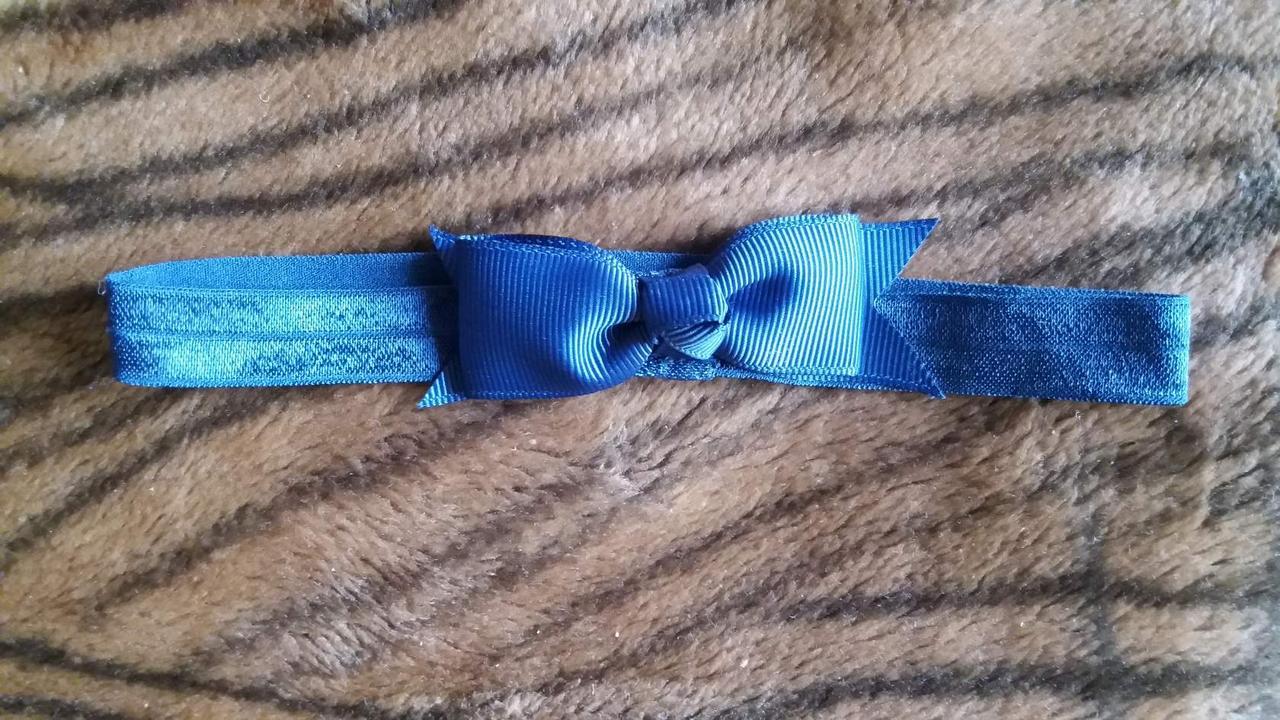 Детская синяя повязка на голову