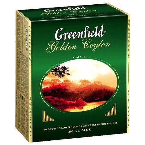 Черный Чай Greenfield Golden Ceylon ( 100х2 г) в картонной упаковке