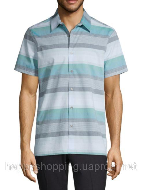 Мужская рубашка в полоску с коротким рукавом Perry Ellis
