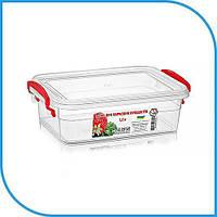 Пищевой пластиковый контейнер 1,2 л, бокс для еды