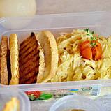Пищевой пластиковый контейнер 1,2 л, бокс для еды, фото 2