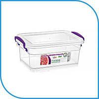 Пищевой пластиковый контейнер 1,6 л, бокс для еды